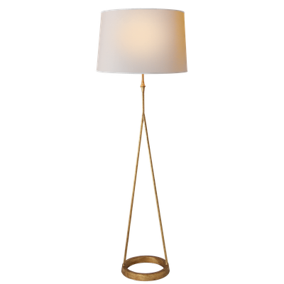 Dauphine floor lamp - Gilded Iron, Natural Paper - Circa Lighting