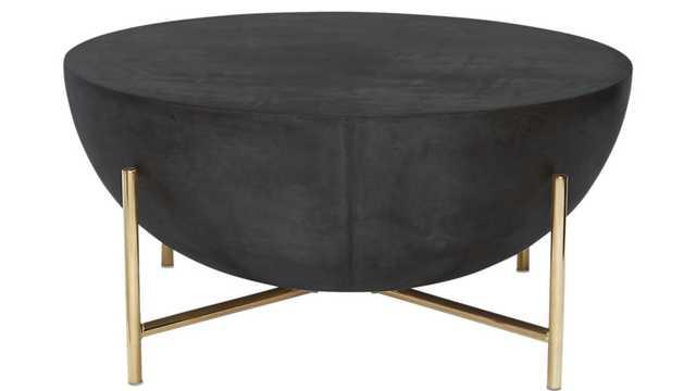 darbuka brass coffee table - CB2