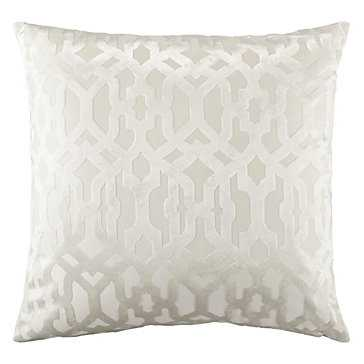 "Monaco Snow Pillow - 24"" x 24"" - Down Insert - Snow - Z Gallerie"