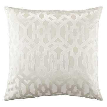 "Monaco Snow Pillow - 24"" x 24"" - Down Insert - Snow - Z Gallerie"