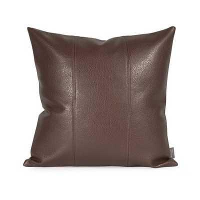 Lovina Faux Leather Pillow - Pecan - Wayfair