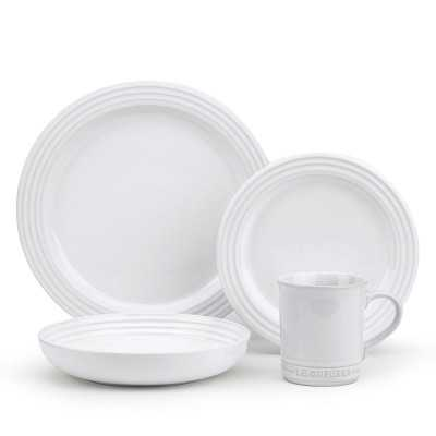 Le Creuset 16-Piece Place Setting with Pasta Bowl, White - Williams Sonoma