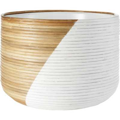 Basket Extra Large White Planter - CB2