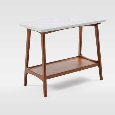 Reeve Mid-Century Side Table - Marble - West Elm