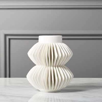 celia white vase - CB2