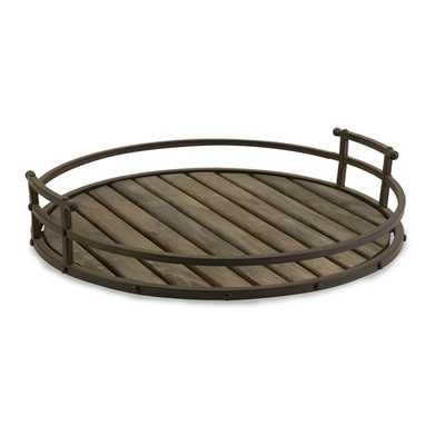 CKI Vermont Iron and Wood Tray - Mercer Collection
