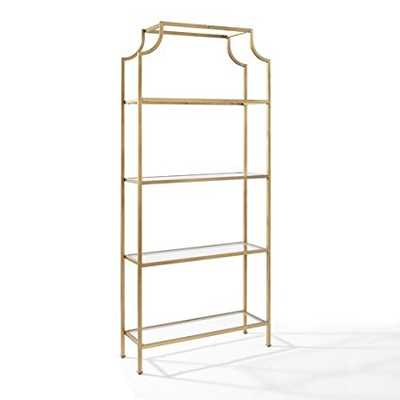 Etagere in Antique Gold Finish - Amazon