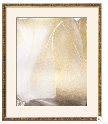 """GOLD FUSION IV-  18"""" x 22"""" - Frame Style: MENDOZA Gold Thin - Width 0.75"""" Mat: Soft White Glass: Acrylic: Clear - art.com"""