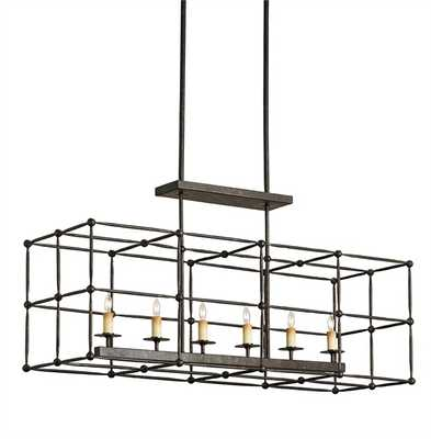 FITZJAMES RECTANGULAR CHANDELIER - Currey and Company