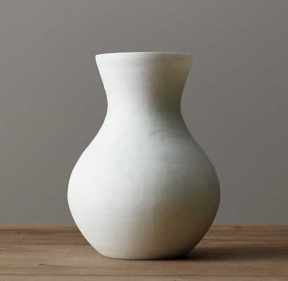 Matte White Glass Vase - RH