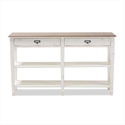 BAXTON STUDIO DAUPHINE TRADITIONAL FRENCH ACCENT CONSOLE TABLE - Lark Interiors