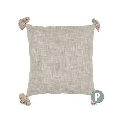 Caza Slubby Tassel Pillow - Flax - Ballard Designs