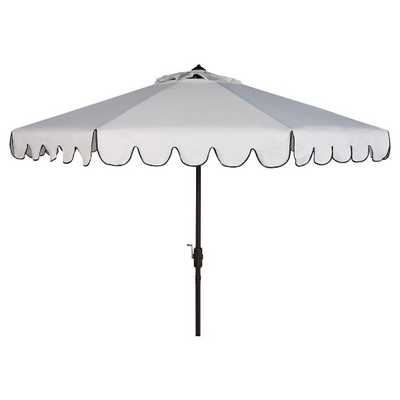 Patio Umbrellas White Black - Safavieh® - Target