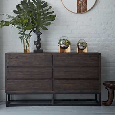 Logan Industrial 6-Drawer Dresser - Smoked Brown - West Elm