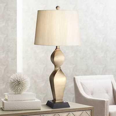 Helen Gold Twist Table Lamp - Lamps Plus
