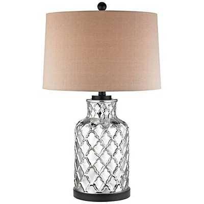 Gregory Mercury Quatrefoil Jug Chrome and Black Table Lamp - Lamps Plus