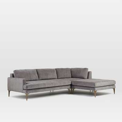 "Andes 3-Piece Chaise Sectional (Extra Large 108""/left arm sofa) - West Elm"
