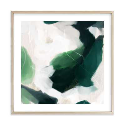 """Oja - 24"""" x 24"""" - matte brass frame with white border - Minted"""