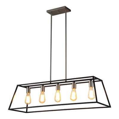OVE Decors Agnes Ii 5-Light Black Pendant - Home Depot