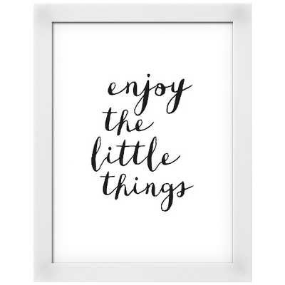 Enjoy The Little Things Copy Framed Art Print - Target