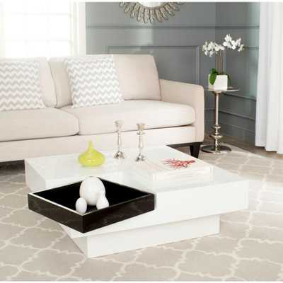 Wesley White Coffee Table - Home Depot