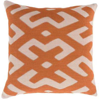 Rigault Poly Euro Pillow, Orange - Home Depot