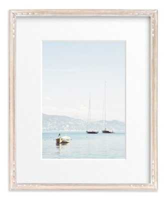 """Portofino Afternoon - 16"""" x 20"""" -matted, Whitewashed Farmhouse frame - Minted"""
