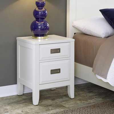 Newport 2-Drawer White Nightstand - Home Depot