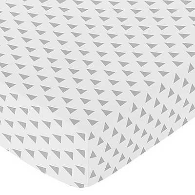 Sweet Jojo Designs Earth and Sky Triangle Fitted Crib Sheet - Buy Buy Baby