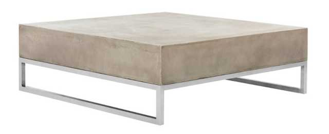 Roth Coffee Table, Gray/Silver - One Kings Lane