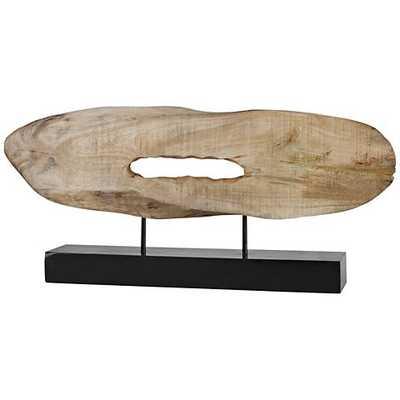 "Uttermost Paol 28 3/4"" Wide Natural Wood Log Sculpture - Lamps Plus"