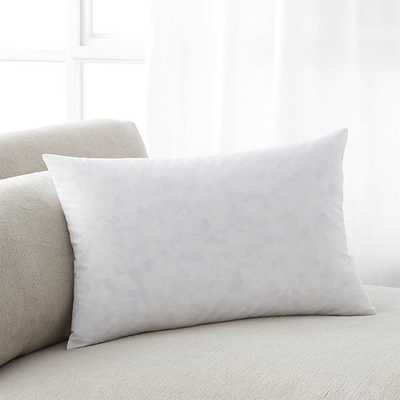 """Feather-Down 18""""x12"""" Pillow Insert - Crate and Barrel"""