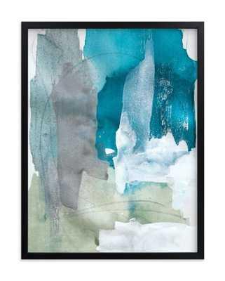"Sea Glass No. 2 - 18"" x 24"" - Black Frame - Minted"