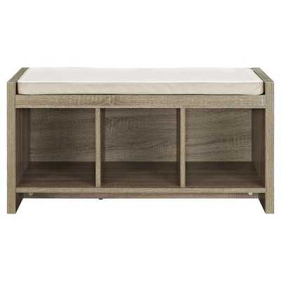 Penelope Storage Bench with Cushion - Distressed Gray Oak - Ameriwood Home - Target