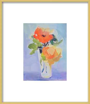 "Orange and Yellow Roses, 14""x16"" Framed - Artfully Walls"