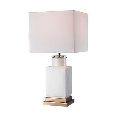 Small White Cube Lamp - Rosen Studio