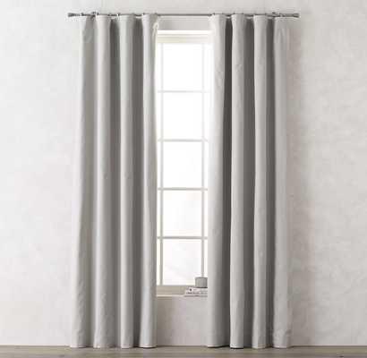 "Linen-Cotton Drapery Panel - Mist - 96""l x 50""w - RH Teen"