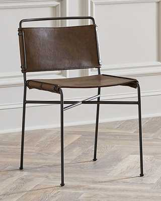 Nicholas Leather Dining Chair - Horchow