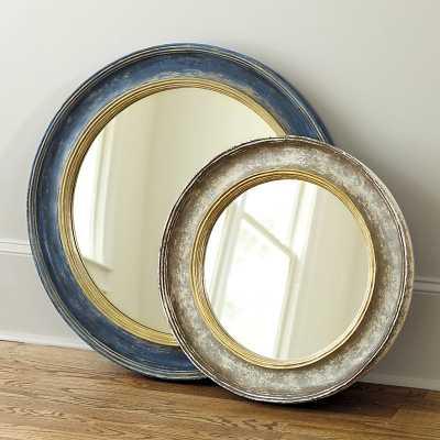 Ballard Designs Cassidy Mirror Blue 25 Inch - Ballard Designs
