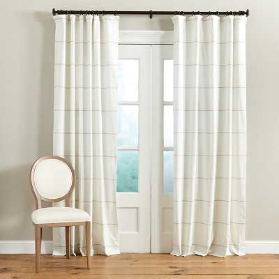 "Ballard Designs Bowen Striped Panel Natural 96"" - Ballard Designs"