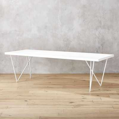 """""""Dylan 36""""""""x104"""""""" White Dining Table"""" - CB2"""