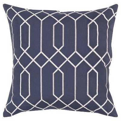 Sorrento Pillow - Surya - 20 x 20 - Navy - Polyester fill - Neva Home