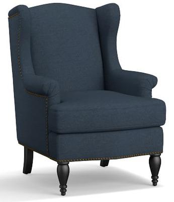 SoMa Delancy Wingback Chair - Pottery Barn
