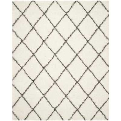 Moroccan Shag Ivory/Gray 8'x10' Area Rug - Home Depot