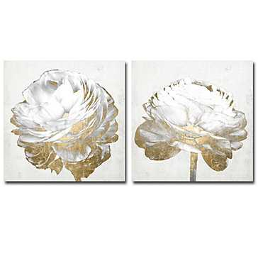 Gold And White Blossom - Set of 2 - Z Gallerie