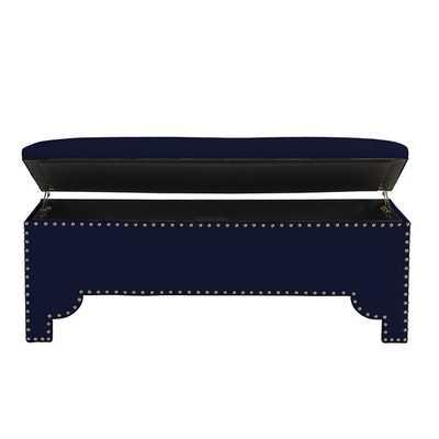 Jasmine Storage Bench - Navy Sunbrella - Ballard Designs