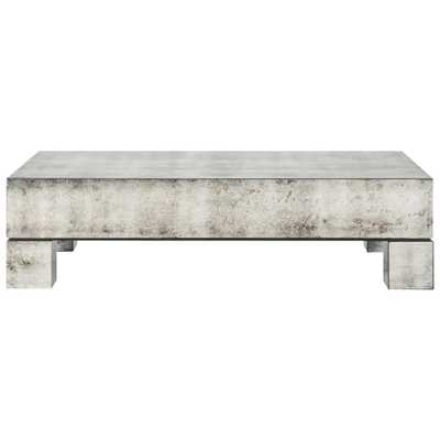 Phineas Industrial Loft Antiqued Mirror Coffee Table - Kathy Kuo Home
