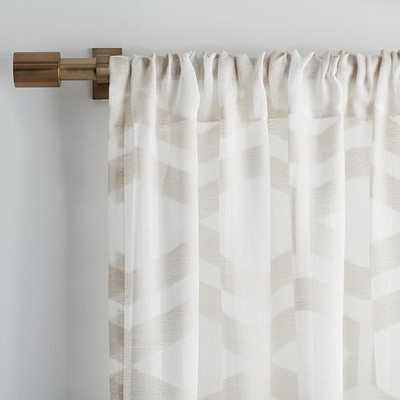 Sheer Clipped Jacquard Curtain - West Elm