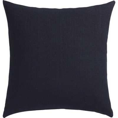 "20"" linon navy pillow with down-alternative insert - CB2"