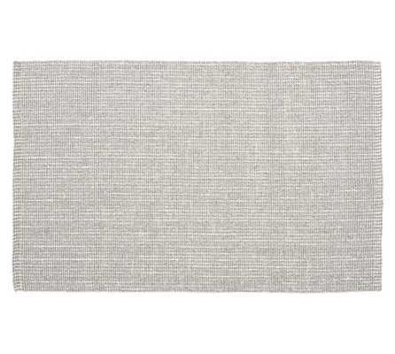 Chunky Wool &Jute Rug, 8 x 10', Gray/Ivory - Pottery Barn